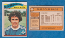 Birmingham City Malcolm Page Wales 2